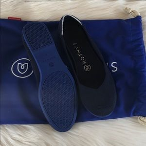 Rothy's Navy Flats Blue Sole Retired